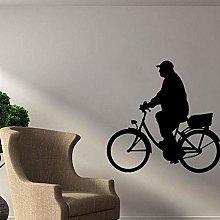 Adesivo Murale Bicicletta Soggiorno Camera Da