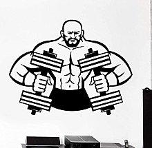 Adesivo murale Bilanciere Muscle Decal rimovibile