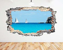 Adesivo murale Blue Ocean Boat Race Summer Smash