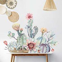 Adesivo murale - Bouquet di cactus con fiori in