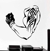 Adesivo murale braccio fitness staccabile