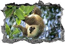 Adesivo murale bradipo 3D animali decalcomania