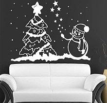 Adesivo Murale Buon Natale Pupazzo Di Neve E