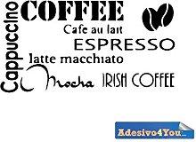Adesivo Murale Caffee Design Wall sticker.