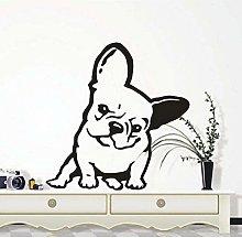 Adesivo murale cane bulldog francese cane