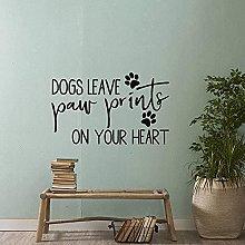 Adesivo murale cane Cane lascia impronte nel tuo