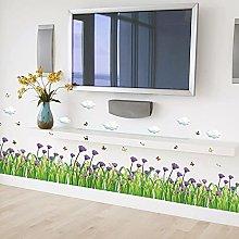 Adesivo murale colorato con disegni di fiori e