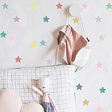 Adesivo murale colorato con stella a cinque punte