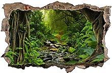 Adesivo murale con alberi verdi Green- Adesivo da