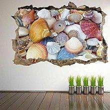 Adesivo murale con conchiglie di mare Adesivo
