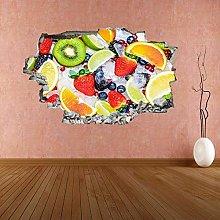 Adesivo murale con frutta fresca e ghiaccio