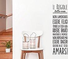 Adesivo murale con Le regole della casa adesivo