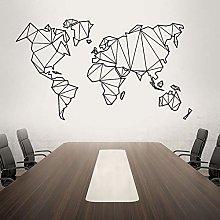 Adesivo murale con mappa geografica del mondo