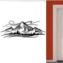 Adesivo Murale Con Motivo Ad Albero Di Montagna