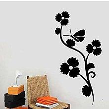 Adesivo Murale Con Piante Di Farfalle Decorazione
