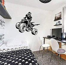 Adesivo murale con quattro ruote per vinile