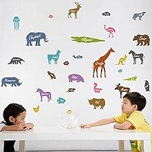 Adesivo Murale Con Silhouette Di Animali Per
