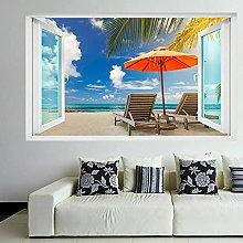 Adesivo murale con spiaggia tropicale esotica