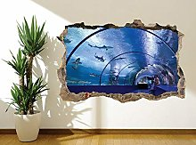 Adesivo murale con stupefacente tunnel sottomarino