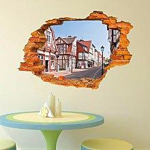 Adesivo murale con vista 3D Adesivo per città