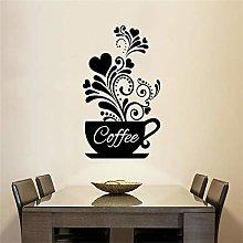 Adesivo murale creativo tazza di caffè adesivi