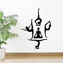 Adesivo murale creativo Yoga Posa yoga Decorazione