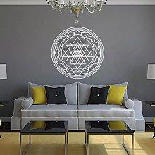 Adesivo murale cubo alchimia geometrica parete in