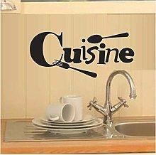 Adesivo Murale Cucina Camera Lettera Cucina