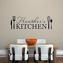 Adesivo Murale Cucina Nome Personalizzato Adesivo