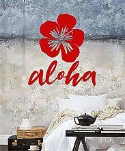 adesivo murale cucina Tropical Flower Bud Hawaii