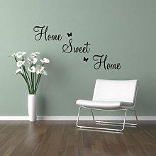 Adesivo murale da parete citazione Home Sweet Home