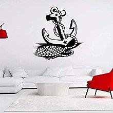 Adesivo Murale Decal Anchor Sea Ocean Anchor Tema