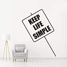 Adesivo Murale Decal Keep Life Simple Quotes