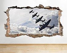 Adesivo murale Decal Poster 3D E102