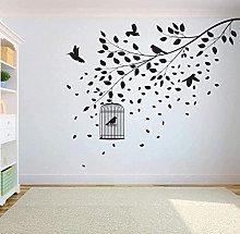 Adesivo murale decalcomania albero uccello adesivo
