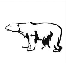 Adesivo Murale Decalcomania Animale Orso Polare