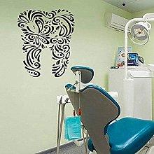 Adesivo Murale Decalcomania Astratta Denti Bagno
