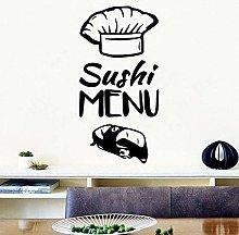 Adesivo murale decalcomania creativa menu sushi