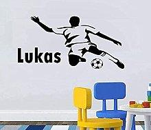 Adesivo murale decalcomania giocatore di calcio
