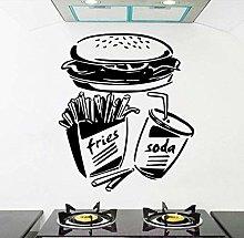 Adesivo murale Decalcomania Hamburger Restaurant