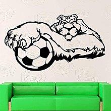 Adesivo murale decalcomania in vinile calcio sport