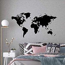 Adesivo Murale Decalcomania Mappa Del Mondo Casa