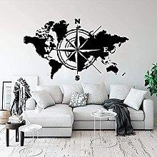 Adesivo Murale Decalcomania Mappa Del Mondo Mappa