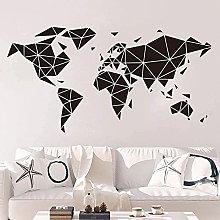 Adesivo Murale Decalcomania Mappa Del Mondo