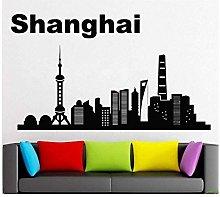 Adesivo Murale Decalcomania Murale Shanghai Città