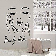 Adesivo Murale Decalcomania Murale Viso Femminile