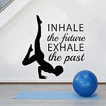 Adesivo Murale Decalcomania Yoga Vinile Scritte