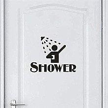 Adesivo murale decorativo murale doccia casa bagno