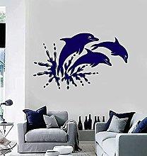 Adesivo murale decorazione d'interni delfino