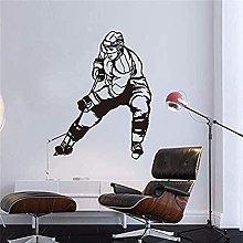 Adesivo Murale Decorazione Decalcomania Hockey Su